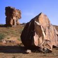 バダーミー周辺の奇岩 Badami rocks 1